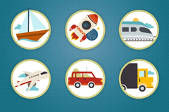 6款旅行度假图标矢量素材