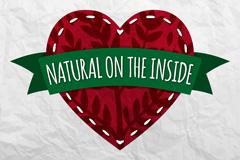爱心里的自然矢量素材