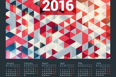 2016年几何形年历矢量素材