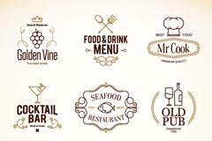 9款餐厅菜单标志矢量素材