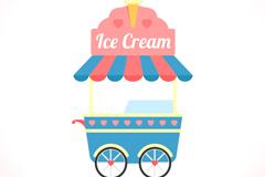 卡通冰淇淋车矢量素材