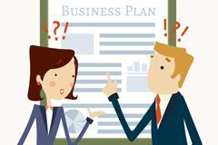 创意商业计划书插画矢量素材