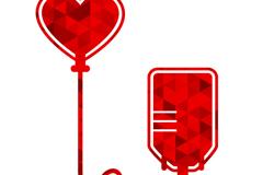 创意献血标识矢量素材