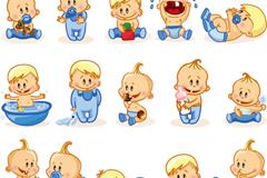 15款卡通男婴矢量素材