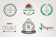 9款绿色餐饮标志矢量素材