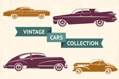 6款复古轿车矢量素材