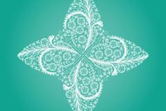 绿色飞镖形花纹矢量素材