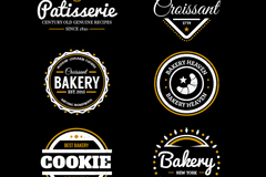 9款烘培食品标签矢量图