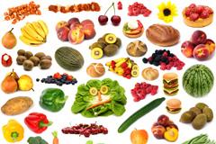 多种水果蔬菜美食高清图片
