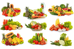 12组水果蔬菜组合高清图片