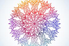 创意圆形花纹矢量素材