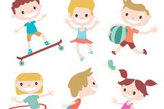 6款卡通儿童矢量素材