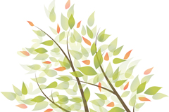清新树枝设计矢量素材