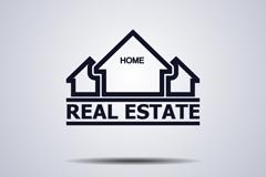 创意房地产标志设计矢量图