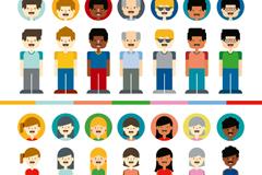 14款人物与头像设计矢量素材