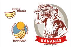 6款优质香蕉标签矢量素材