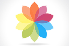 彩色花瓣标志矢量素材