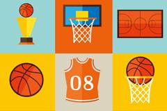 9款篮球元素图标矢量素材