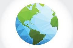 彩色几何形地球矢量素材