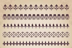 7款花纹边条设计矢量图