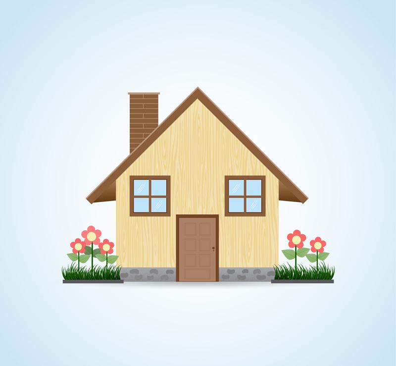 2d Home Design Pic: 卡通房屋设计矢量素材_风景建筑_懒人图库