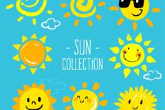 8款可爱太阳设计矢量素材