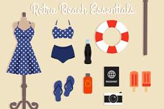 11款沙滩度假必需品矢量素材