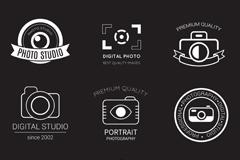 9款摄影工作室标志设计矢量素材