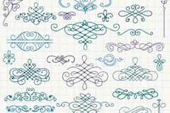 34款手绘花纹设计矢量图