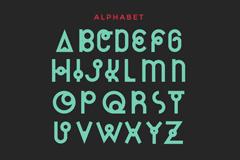 仙后座艺术字母设计矢量素材