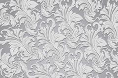 灰色欧式叶形花纹矢量素材