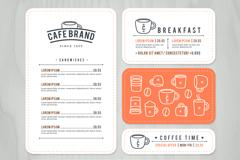 4款咖啡卡片设计矢量图