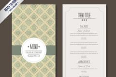 复古意大利餐厅宴会菜单矢量图