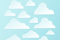 白色云朵设计矢量图