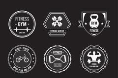 9款运动健身标签矢量素材