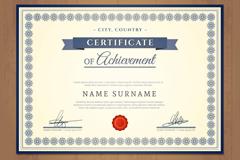 精美证书设计矢量素材