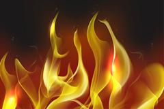 黄色火焰矢量素材