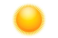 金色太阳设计矢量素材