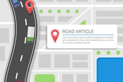 创意交通地图设计矢量素材
