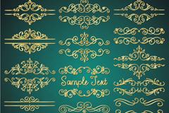 18款金色装饰边框矢量素材