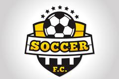 创意足球队标志矢量素材