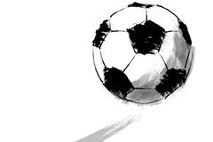 手绘足球设计矢量素材