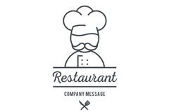 创意厨师餐厅标志矢量图