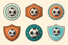 9款创意足球标签矢量素材