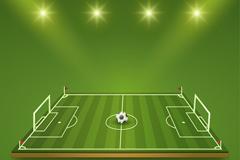 精美足球场设计矢量图