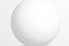 白色高尔夫球矢量素材