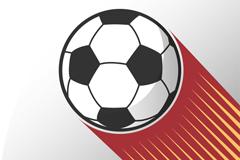 创意动感足球矢量素材