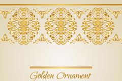 金色花纹卡片矢量素材