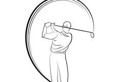 高尔夫球手矢量素材