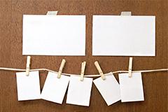 12种空白相片与夹子高清图片